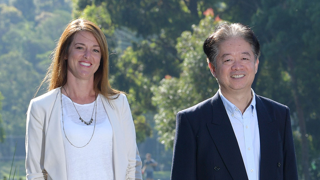 Dr Katrina Green and Distinguished Professor Xu-Feng Huang. Photo by Photo by Simon Bullard.