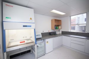 Blood laboratory at Wollongong Hospital CRTU. Photo by MOD Photography.