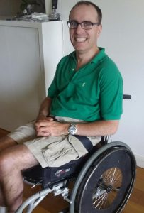 Nick Rousch, a Wollongong resident who suffers from the rare disease, Friedreich's Ataxia