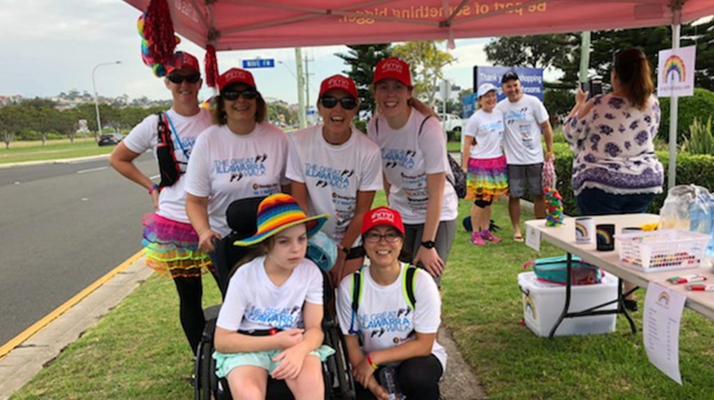 Team IHMRI with Chloe Saxby during the 2018 Great Illawarra Walk at Warrawong