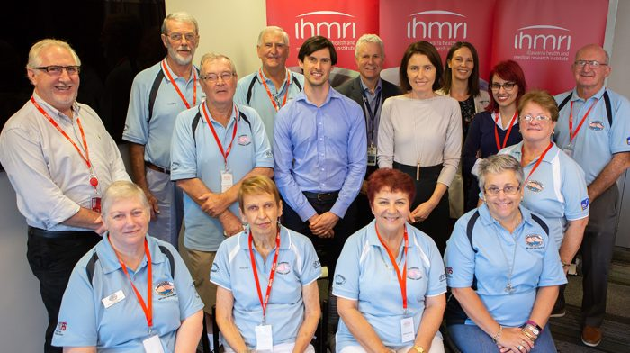 Illawarra Cancer Carers with IHMRI researchers. Photo by Mark Newsham