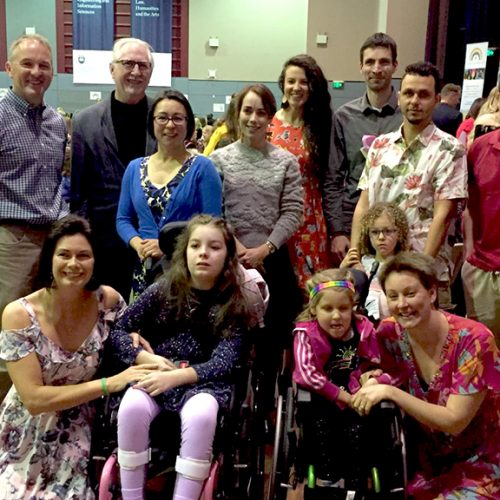 IHMRI researchers with the Saxby and Burns families at the Everyday Superheroes High Tea for Saving Chloe Saxby. Photo supplied.