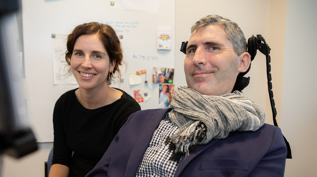 IHMRI Research Assistant Natalie Farawell with Associate Professor Justin Yerbury. Photo by Mark Newsham.