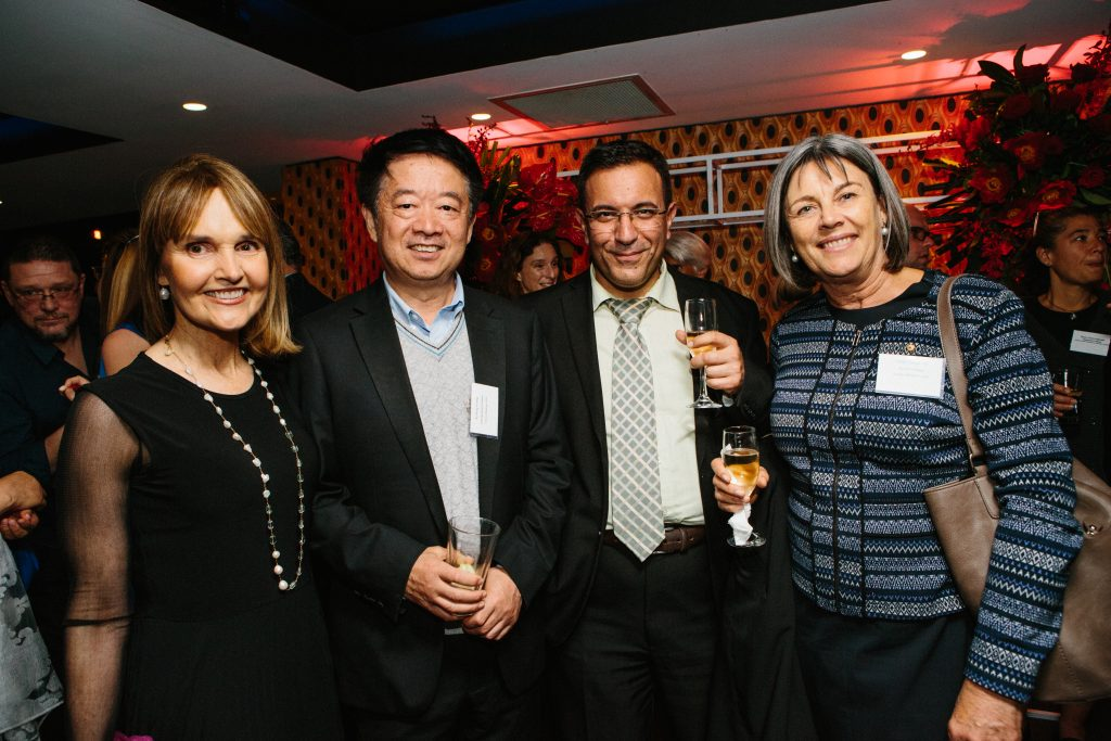 Dr Annette Wellings, Distinguished Professor Xu-Feng Huang, Clinical Professor Spiros Miyakis and Senior Professor Linda Tapsell AO