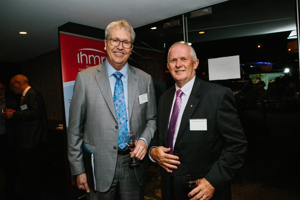 Professor Paul Wellings CBE and Michael Bassingthwaighte AM. Photo by Trudy Simpkin.