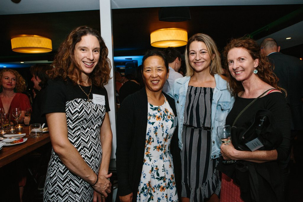 Dr Melissa Thompson, Hongqin Wang, Dr Kelly Newell and Dr Theresa Larkin. Photo by Trudy Simpkin.