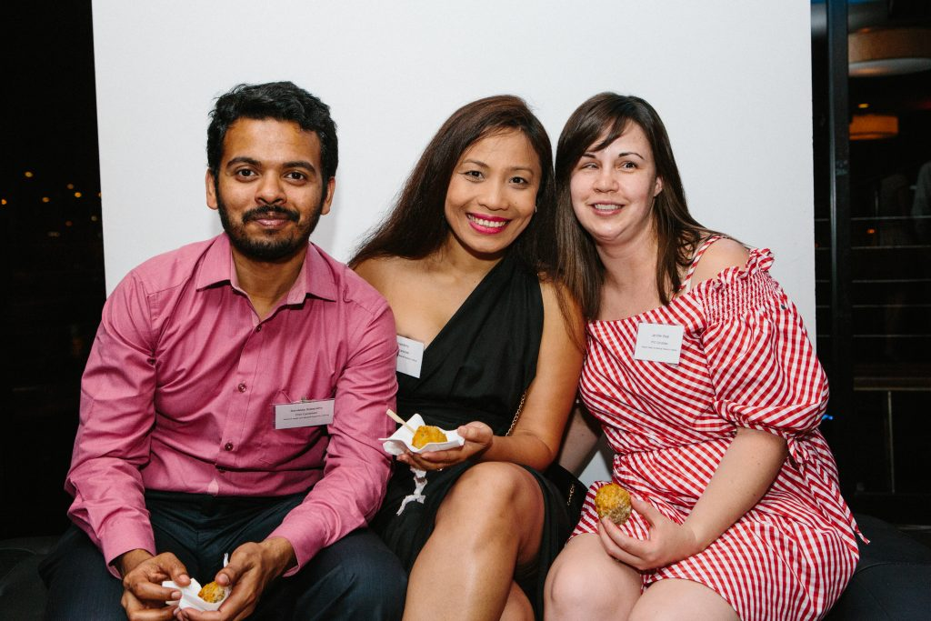 Sandeep Satapathy, Anuja Roy Bony and Jennifer West. Photo by Trudy Simpkin.