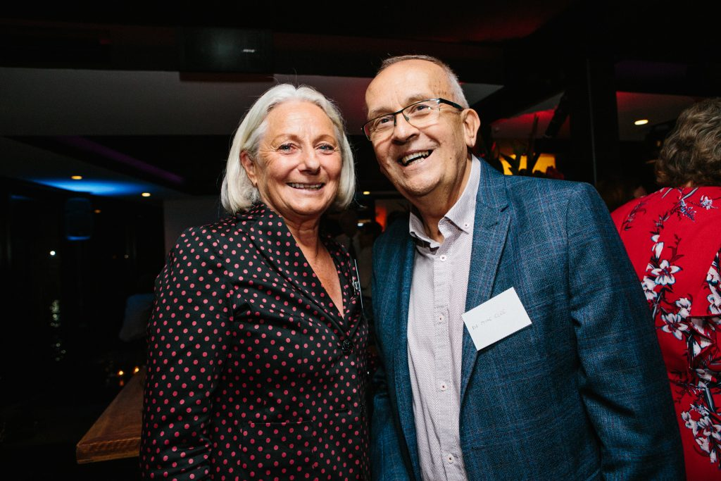 Sue Baker-Finch and Dr Michael Clee. Photo by Trudy Simpkin.