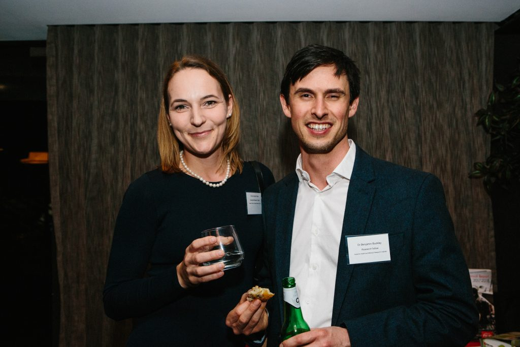 Dr Ann-Katrin Piper and Dr Benjamin Buckley. Photo by Trudy Simpkin.