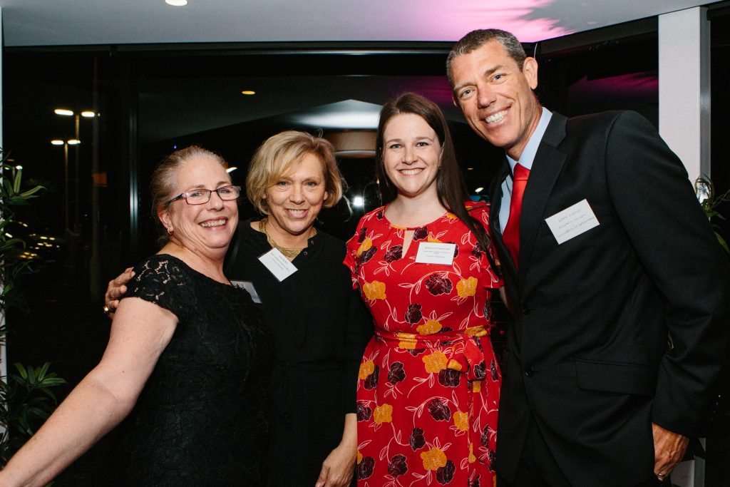 Fiona Roberts, Sally McNeill, Bethany Pye-Respondek and Associate Professor Heath Ecroyd. Photo by Trudy Simpkin.
