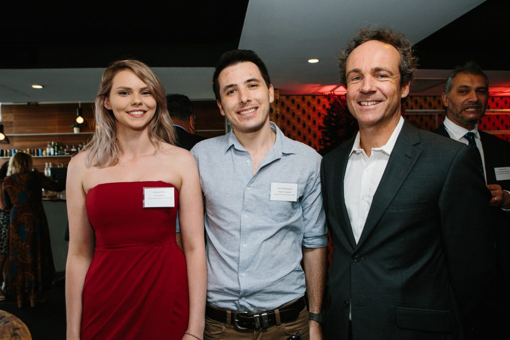 Gabrielle Phillips, Thomas Spunar and Dr Simon Brown. Photo by Trudy Simpkin.