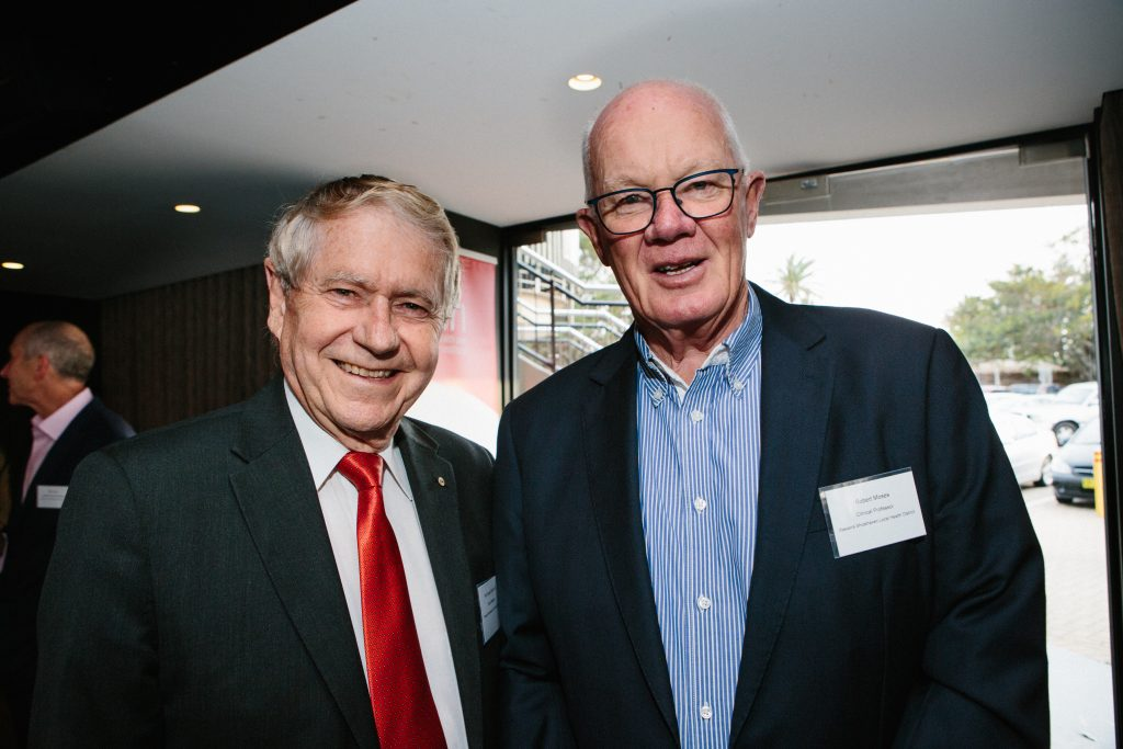 Professor Gerard Sutton AO and Clinical Professor Robert Moses. Photo by Trudy Simpkin.