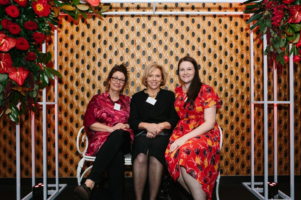 Dr Karyn Ridgway, Sally McNeil and Bethany Pye-Respondek. Photo by Trudy Simpkin.