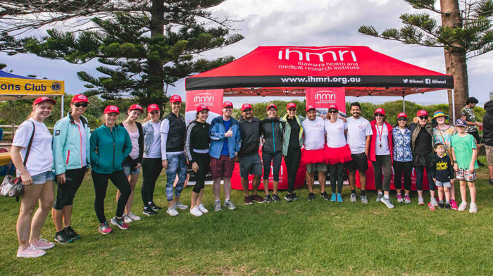 Team IHMRI at the Walk to D'Feet MND on Sunday 5 May 2019. Photo by Alex Pike.
