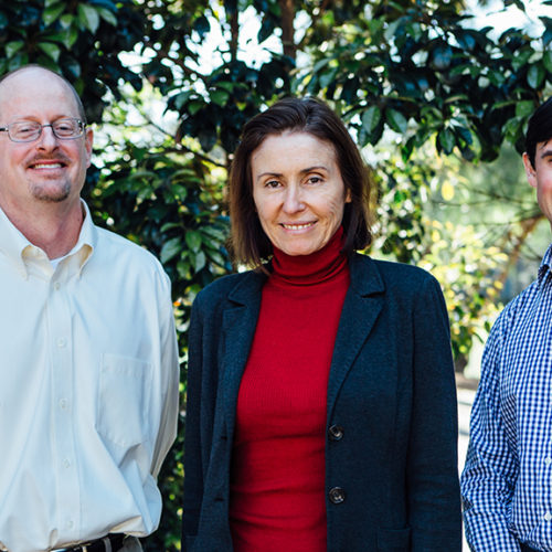 Associate Professor Matthew Flick. Professor Marie Ranson, Dr Benjamin Buckley. Photo by Trudy Simpkin.