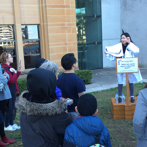 Dr Yee Lian Chew at Soapbox Science on 10 August 2019 at Circular Quay.