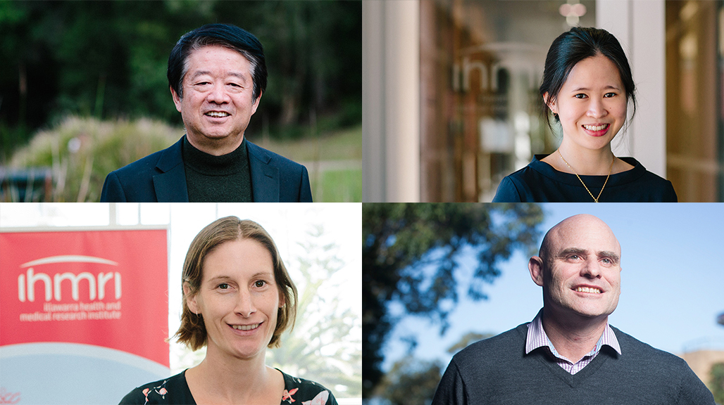 Distinguished Professor Xu-Feng Huang, Dr Yee Lian Chew, Dr Monique Francois and Senior Professor Tony Okely